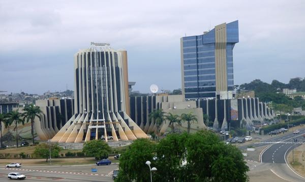 immeuble du pétrole et de la Banque des Etats de l'Afrique centrale (BEAC) à Libreville