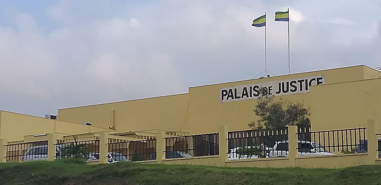 Palais de justice de Libreville le 29 novembre 2019 au moment des dernières auditions de l'opération scorpion