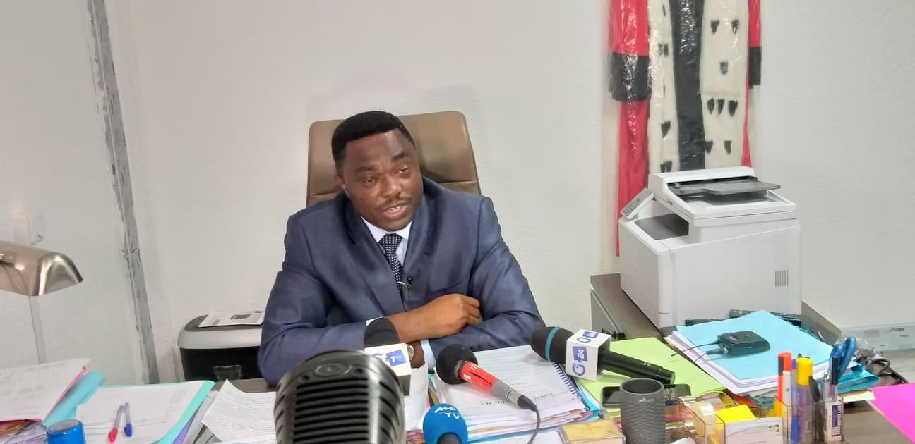 Le Procureur de la République, André Patrick Roponat le 28 janvier 2020 dans son bureau