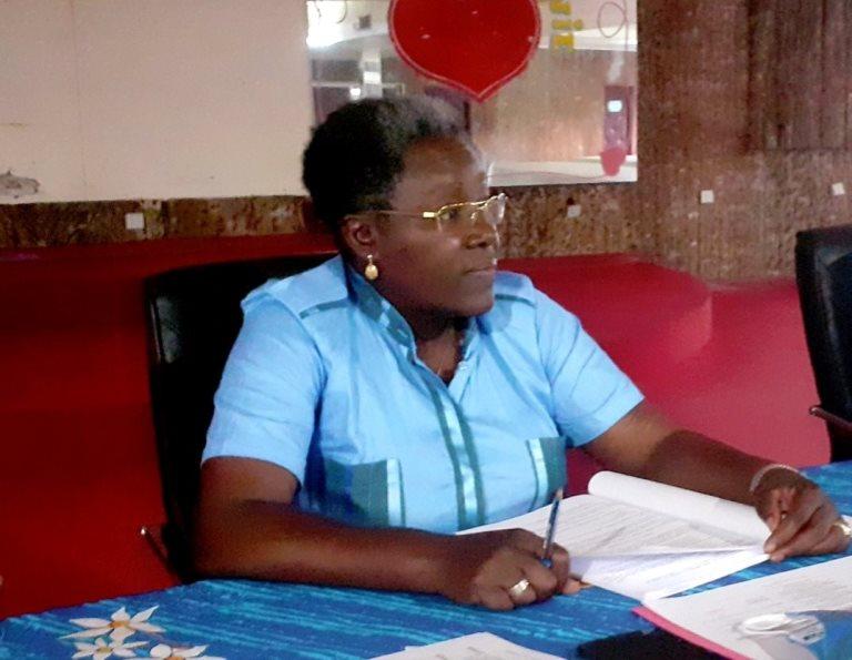 Le Délégué général du CLR, Dr Nicole Assélé présidant la reunion du Directoire le 2 septembre à Libreville © Com CLR