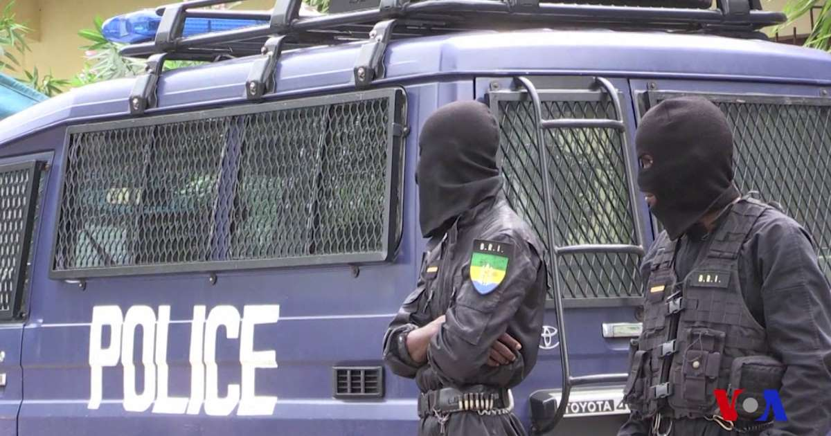 Des policiers gabonais © DR