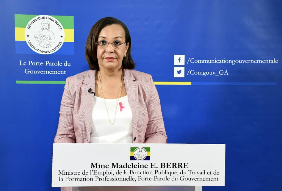 Madeleine Berre, porte paole du gouvernement / Gabonactu.com