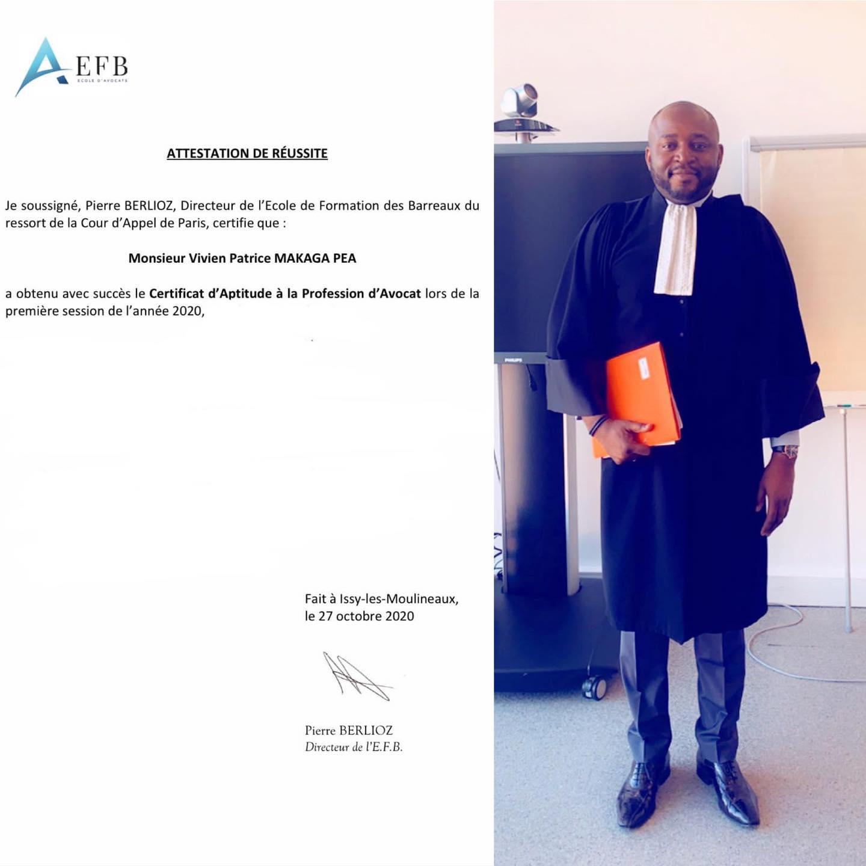 Vivien Patrice Lloyd Amos Makaga Péa montre son diplôme à qui veut le voir / Gabonactu.com