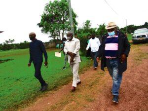 L'honorable Moukoundzi a sillonné   tous les quartiers de Mbigou pour apporter la bonne nouvelle sur le tourisme ©  Gabonactu.com