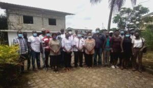 Les membres de la société civile gabonaise posant pour la postérité ©  Gabonactu.com